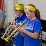 Flame Friday brought out the blue and gold and filled the gym for a  pep rally.