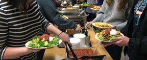 Salad bar, dining hall