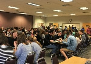 Community building over lunch