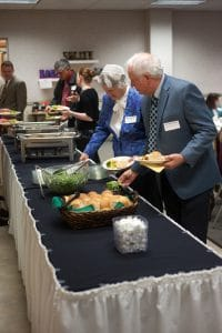 Catering is available through EMS banquet services in a large commercial kitchen or with local restaurants.
