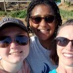 Maya Ferrell, Debbie Katz and Susan Melendez, 6th grade explore week
