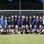 Girls varsity soccer state championship team, 2015