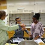 Chemistry students at JMU lab