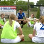 Andrew Gascho with girls soccer team 2018