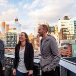 J. Michael, Jessica and Steven Stauffer in New York City. Photo courtesy of Eastern Mennonite University Crossroads magazine.