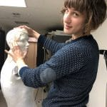 Bethany Gingrich '08 in the collections department at the Metropolitan Museum of Art