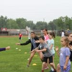 EMES annual Field Day with eight grade and a few high school helpers.