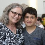 Mrs. Maria Archer with a student