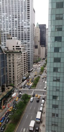 The view from the office of Sara Lin Yoder '09, in NYC