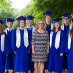 Maria Archer with class of 2019 members who attended Eastern Mennonite Elementary School