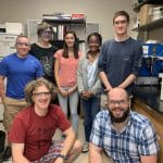 Dr. Kevin Caran REU group, summer 2019, James Madison University. EMS student Rahel Lema is back row, second from right.