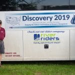 Discovery 2019 with group leader Lee Good and bus driver, Barry Darr on the left, and Kyle Good (cook) and Jennifer Young (van driver) on the right