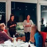 Kirsten Moore greets Sub Rosa guests