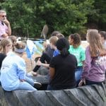 Seventh grade earth science class helps incorporate salvaged tires into the elementary playground