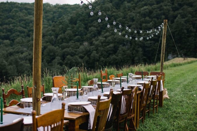 Sub Rosa Flora and Fauna Meal in the George Washington National Forest (before the rain)