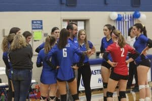 Varsity Girls Volleyball, undefeated for the season, took on Broadway and kept their record strong!