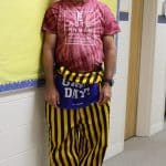 Tie dye date AND blue and gold day with Kendal Bauman, elementary PE teacher
