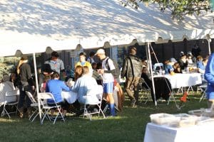 Fan appreciation meal, hosted by the Booster Club