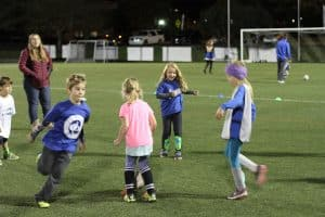 Eastern Mennonite Elementary students at half time play