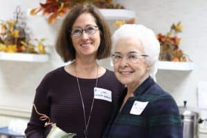 Lori Snyder '74 Garrett with Esther Augsburger, her art teacher who set her on a path toward a career in architecture