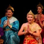 Isaabella in the fall 2018 production of The King and I, back right