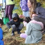 EMES students plant daffodils in hope for spring.
