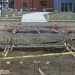 Footers poured for bridge to EMES