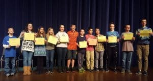 Middle school spelling bee, 2016-17