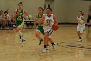 Girls basketball, Katy Bergey passes 1,000 career points, 2010