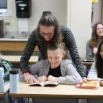 Susan Melendez teaching sixth grade language arts