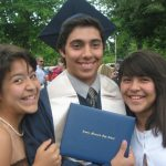 EMHS commencement 2012, Luis Martinez with sisters Mariana '17 and Lucia '16. Courtesy photo.