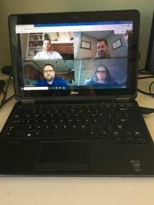 Strategic Leadership Team meeting via Zoom during the COVID'19