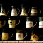 Halie Mast '22 took this picture of Herb Weaver mugs as part of a photography independent study class.