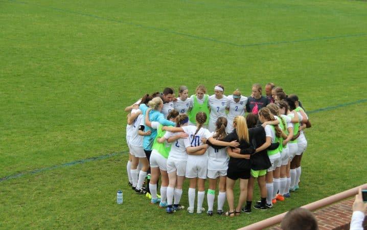 Girls Varsity Soccer team, spring 2019