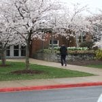 Paul Leman, walking into an empty school on the first day of closure during the COVID-19 shut down.