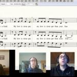 Jared Stutzman singing parts for virtual choir invitation