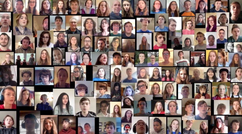 EMS virtual choir included students, alumni, faculty and staff