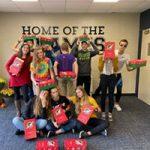 Cross country team Christmas box service project