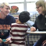 Psychology students meet with EMES students, fall 2019