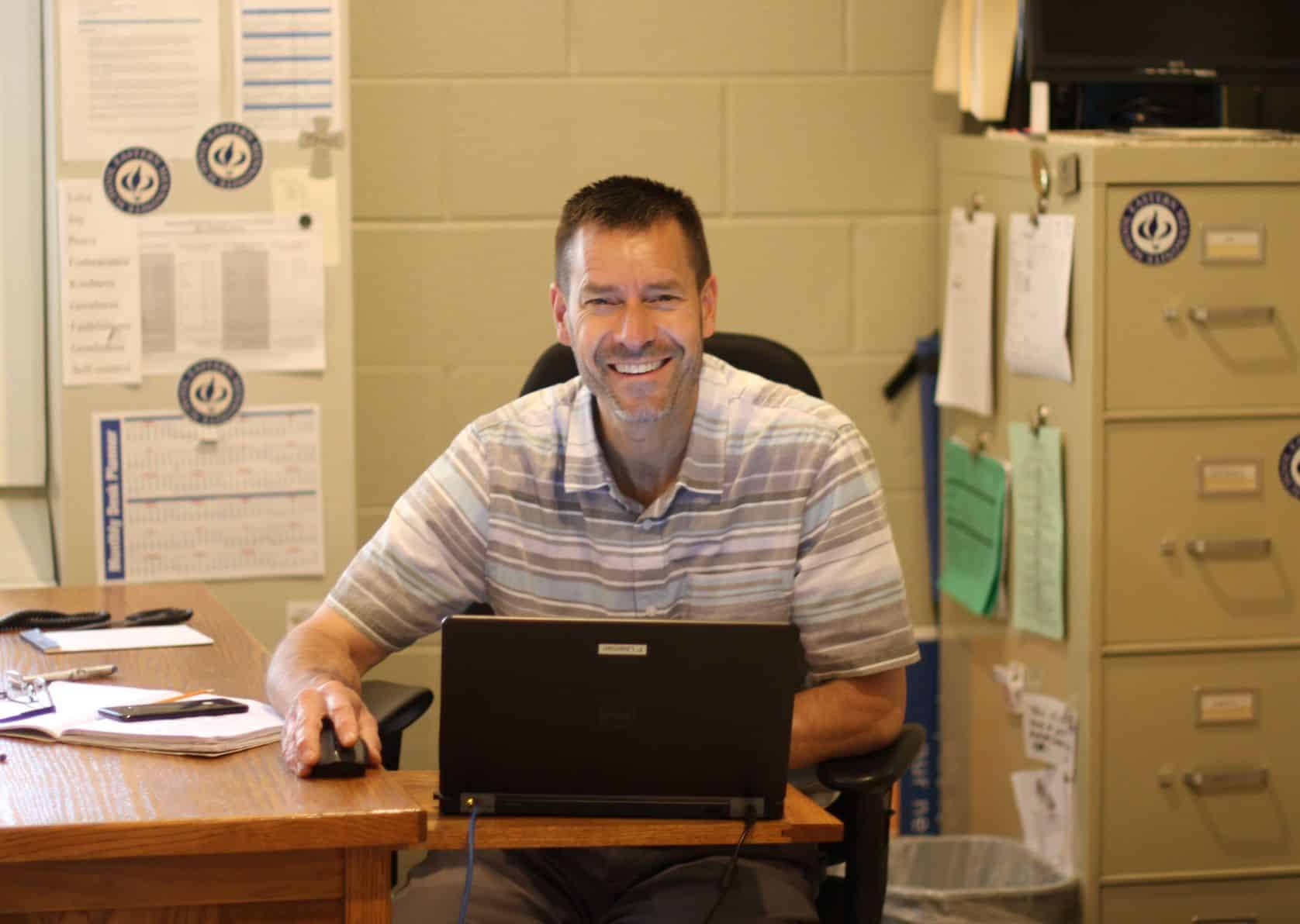 Paul Leaman, head of school, remains upbeat even during challenging times.