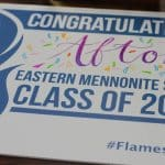 Teachers and staff signed yard signs for the class of 2020