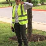 Karissa Sauder '17, engineering intern with Gott Electric helped on the installation
