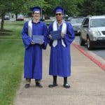 Cyrus Ramsey and Andy Syseeth. Commencement 2020