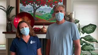 Joanna and Dr. Davi Moyer Diener on how to wear a face covering properly
