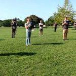 Choir with megaphones