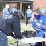Signing in at the solar barn raising