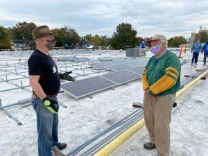 Dr. Doug Hendren and Stan Godshall, community volunteers (and EMS grandparent!)
