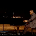 """David Berry, EMS board member and dad, and professor of music at EMU, """"brings down the house"""""""