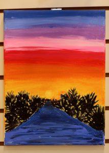 Lillye Monger, 9, Sunset Ridge, Acrylic on Canvas