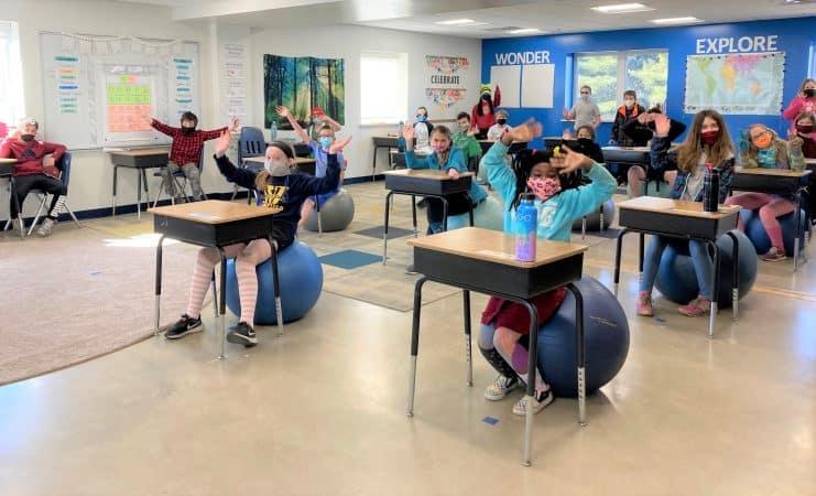 Fifth grade class, March 2020